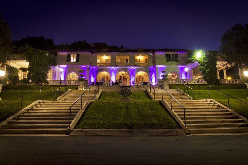 Villa Montalvo, Saratoga Sound In Motion providing DJ/MC and outdoor lighting