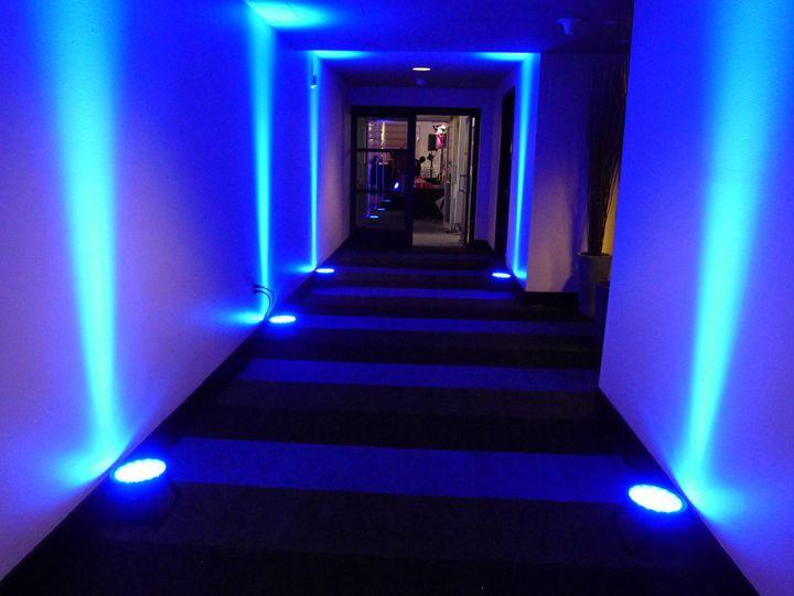 Tmx 1399004122312 Blue Hallway Uplighting W Hote Scotts Valley wedding dj