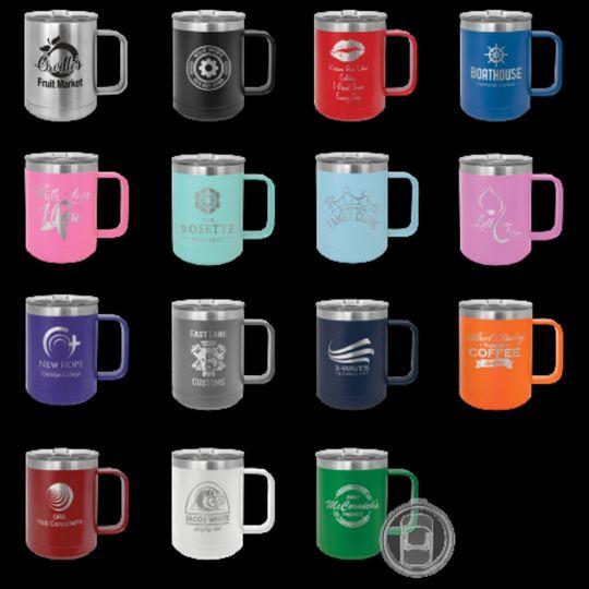 Engraved mugs