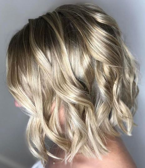 Blonde highlights and curls