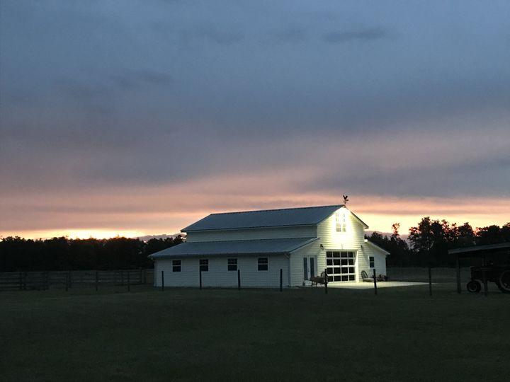 Sunset at Brannan's Barn