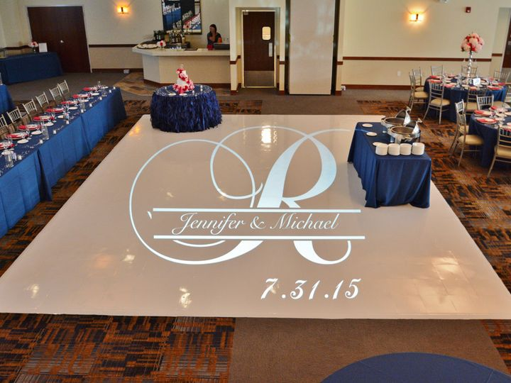 Tmx 1453933946866 Signature Banquets Gobo On White Dance Floor Lombard, Illinois wedding eventproduction