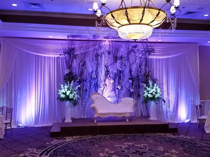 Tmx 1453995696620 Concorde Banquets Uplighting On Backdrop Lombard, Illinois wedding eventproduction