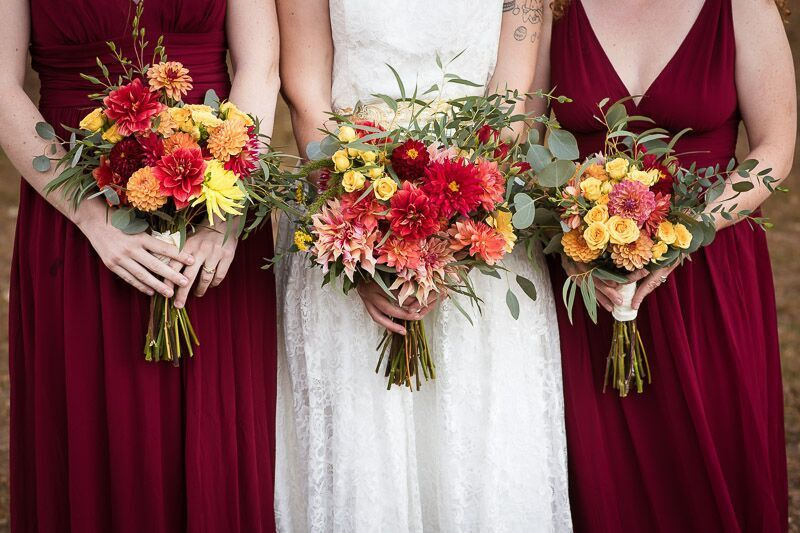 Fall bouquets. Photo courtesy Heather Connors Photography.