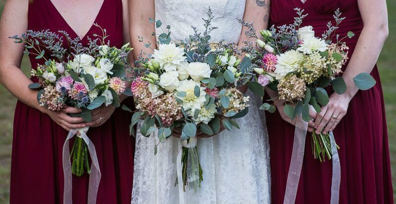 Late summer bouquets. Photo courtesy Heather Connors Photography.
