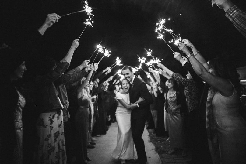 Sparkler send off // teri b photography