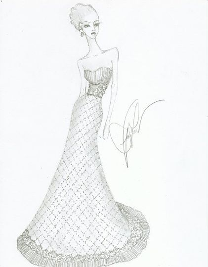 "This dress is being designed for a Bride who won my ""inspire me with your story and I will design..."