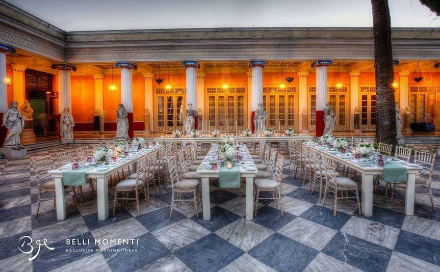 Wedding in Achillion Palace in Corfu