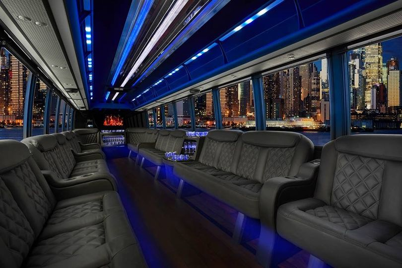 Interior New 2015 Party Bus for up to 30 passengers