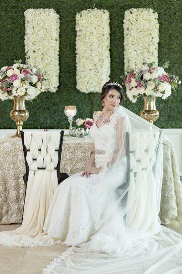 The bride alone