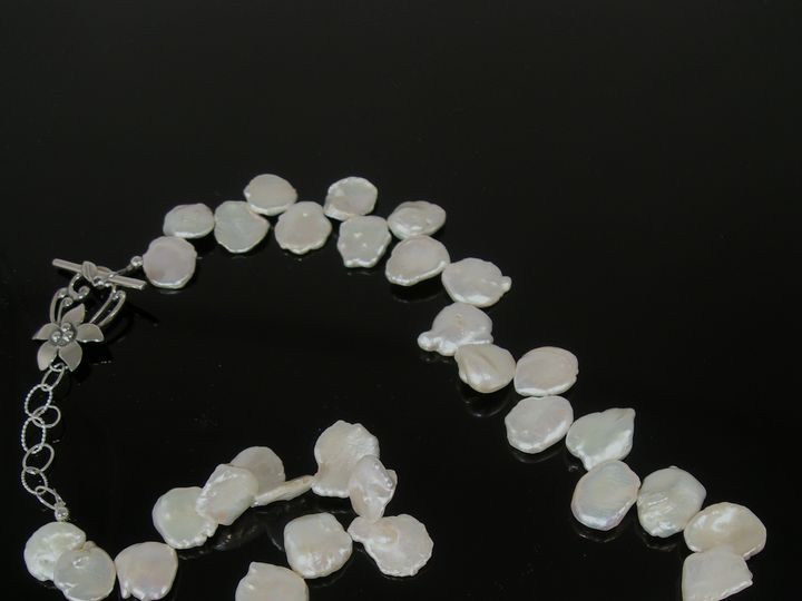 Tmx 1466787056328 Keishi Pearls And Hand Stamped Sterling Clasp From Clackamas wedding jewelry