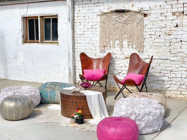 Boho/Western Lounge Area