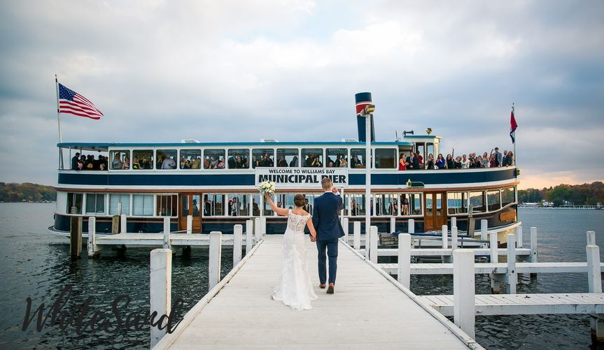 A breathtaking wedding ceremony aboard the Grand Belle of Geneva followed by a cocktail cruise to...