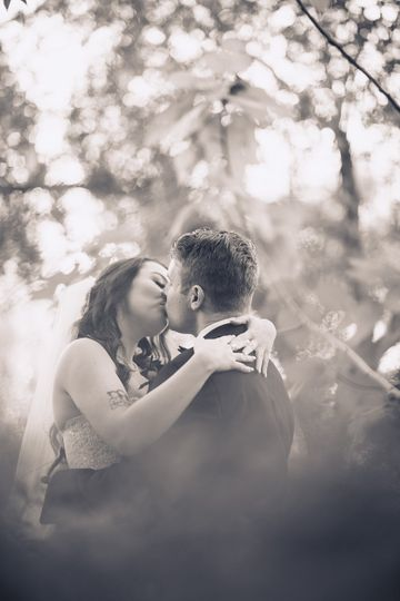 Oh that newlywed kiss!