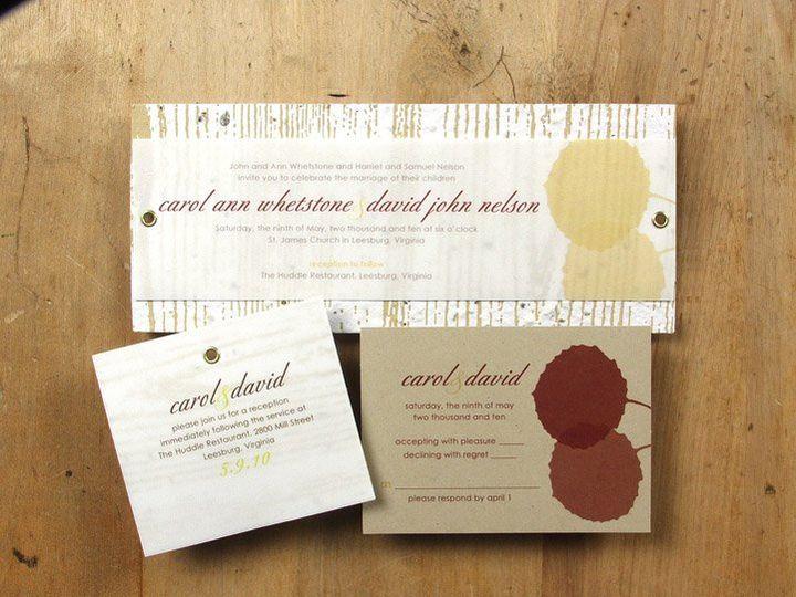 Tmx 1348165420748 BloomWeddingAspen6.8 Portland wedding invitation