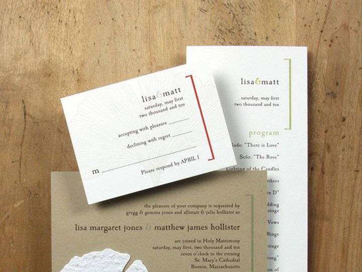 Tmx 1348165428599 BloomWeddingGingko6.8 Portland wedding invitation