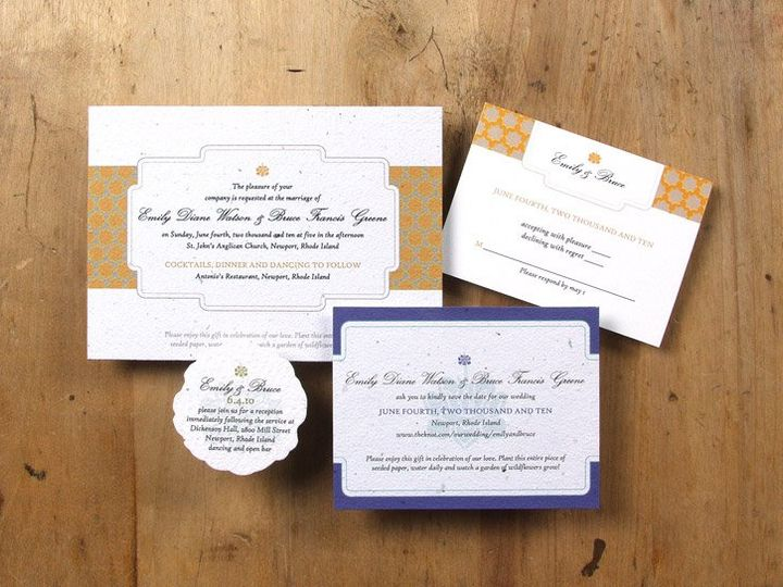 Tmx 1348165440654 BloomWeddingLotus6.8b Portland wedding invitation