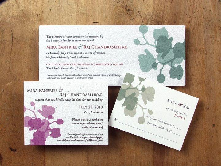 Tmx 1348165455685 BloomWeddingOrchid6.8 Portland wedding invitation