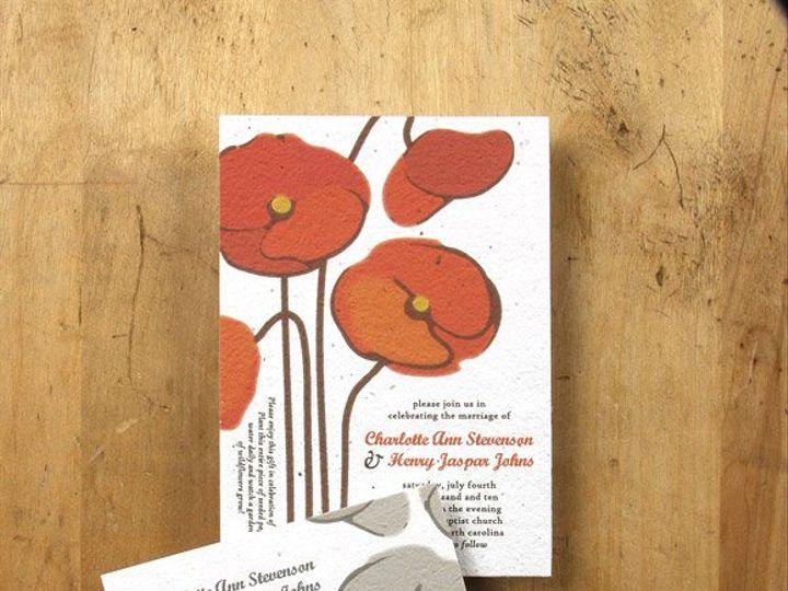 Tmx 1348165464277 BloomWeddingPoppy6.8 Portland wedding invitation