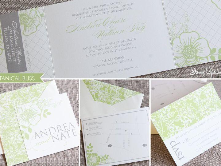 Tmx 1352584399505 BotanicalBliss Portland wedding invitation