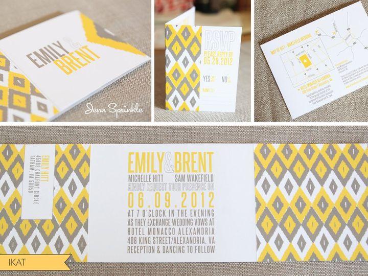 Tmx 1352588265295 IkatCollage010101 Portland wedding invitation