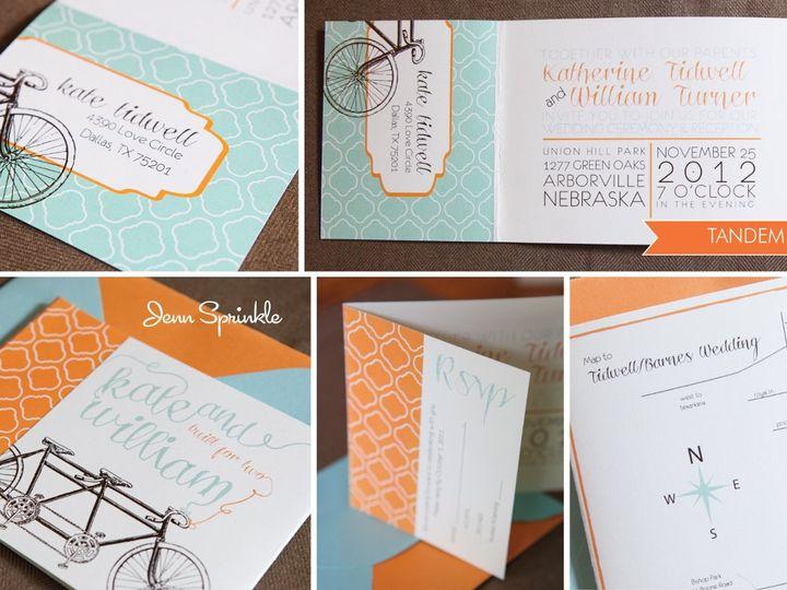 Tmx 1352591659262 Tandemcollage01 Portland wedding invitation