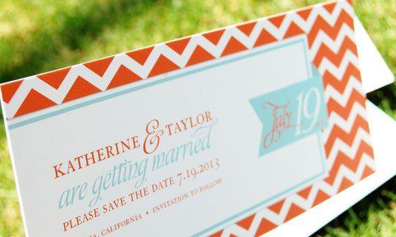 Tmx 1352597828139 WileyChevronChic4 Portland wedding invitation