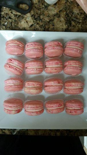 Pink macaroon cake