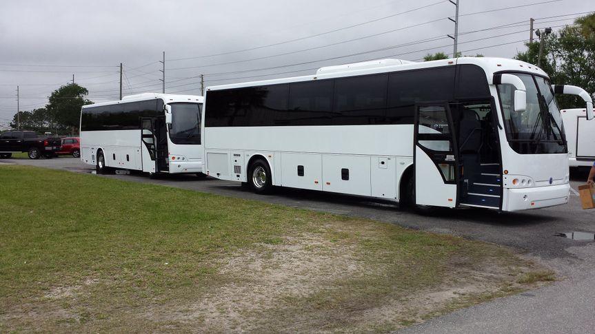 Fleet of motor coaches
