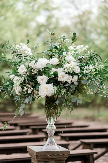 Aisle floral arrangement