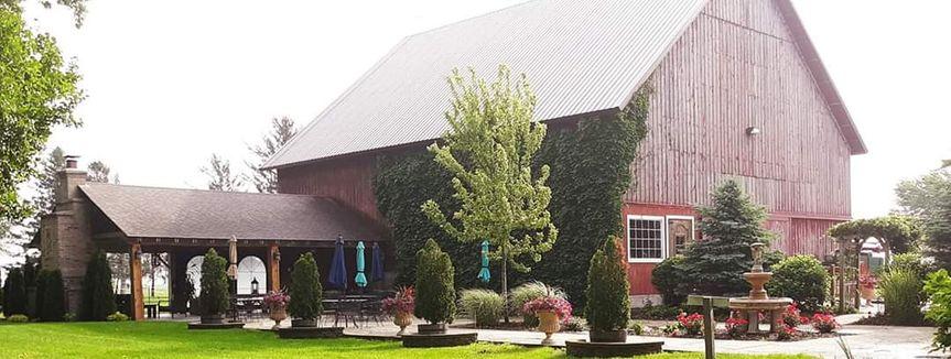 The Mora Farm outdoor patio