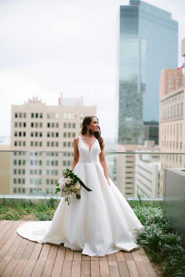 Bride on Limestone Terrace