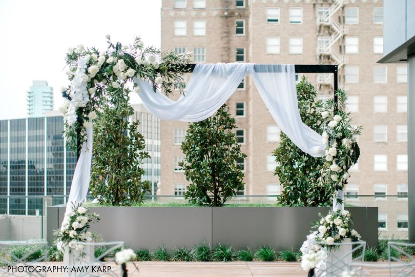 Roof top terrace ceremony