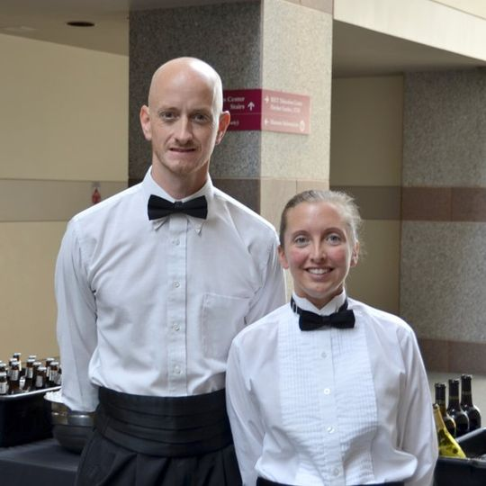 Catering by Design servers ready and waiting