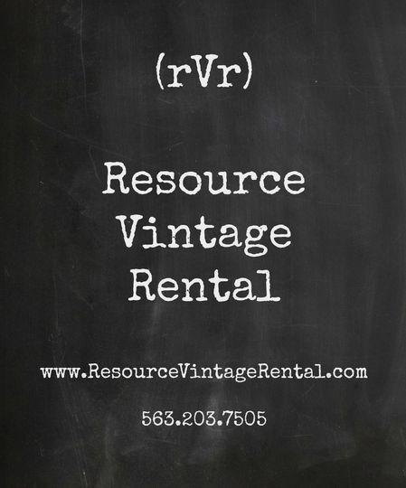 Resource Vintage Rental