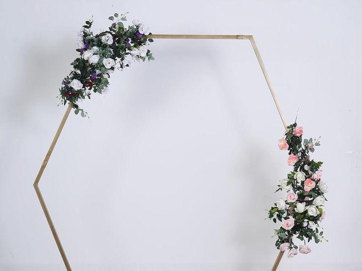 Tmx Gold Hexagon Backdrop 51 1891163 157682476525107 Davenport, IA wedding rental