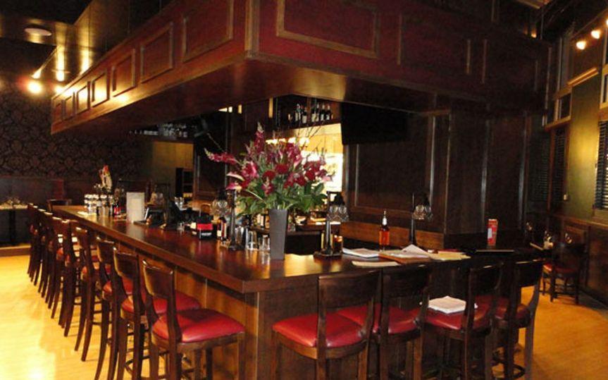 Inside bar and restaurant area