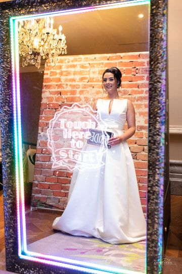 Bride at the booth