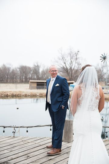 Bride on a dock