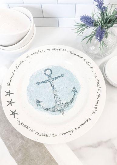 Nautical wedding themed gift