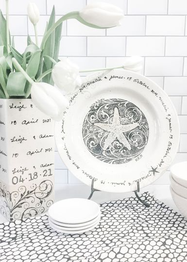 Personalized beach plate
