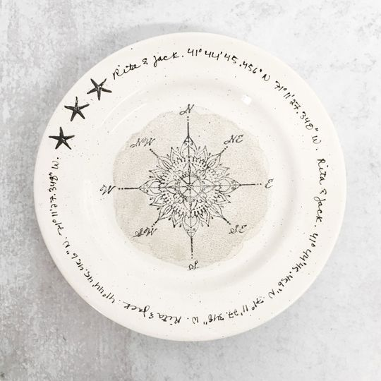 Compass Rose GPS Plate
