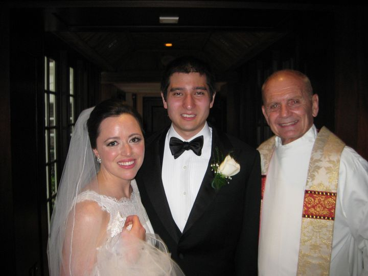 Couple and priest