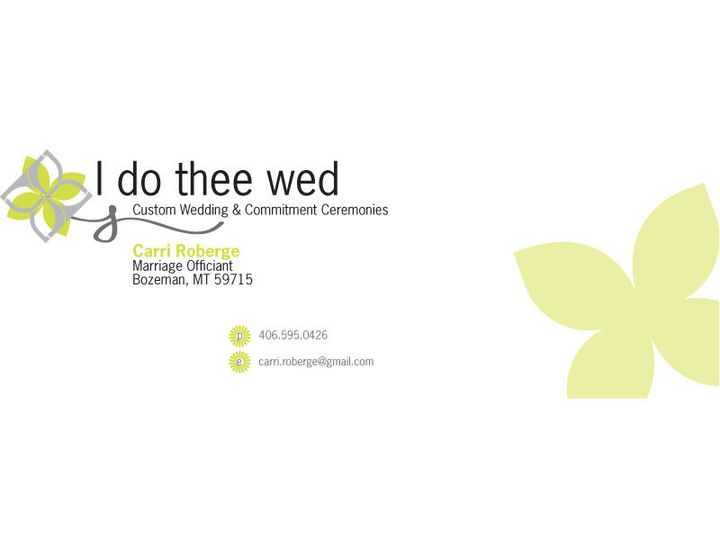 Tmx 1394828446683 I Do Thee Wed Fb Cove Bozeman wedding officiant