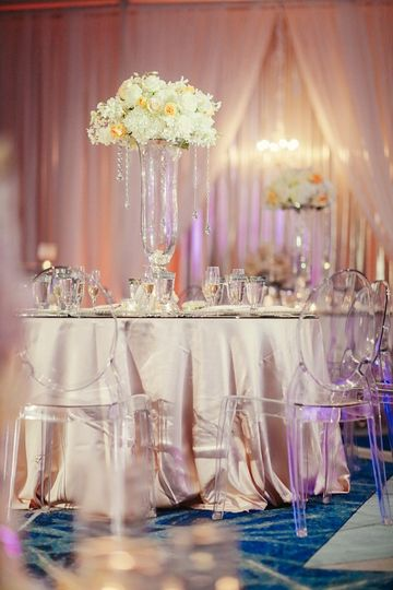 Tablescape - sequins and roses