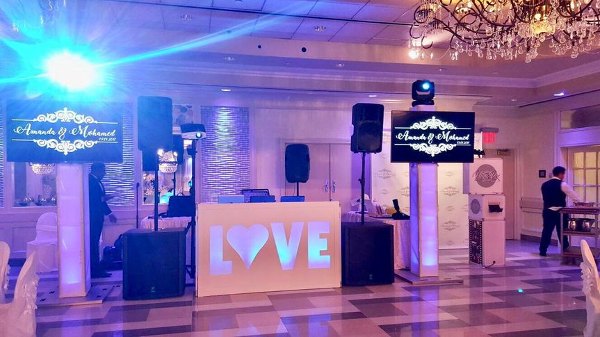 Love facade setup with led tv