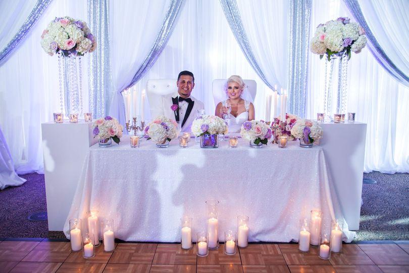 Sweetheart Table - Wedding Flowers