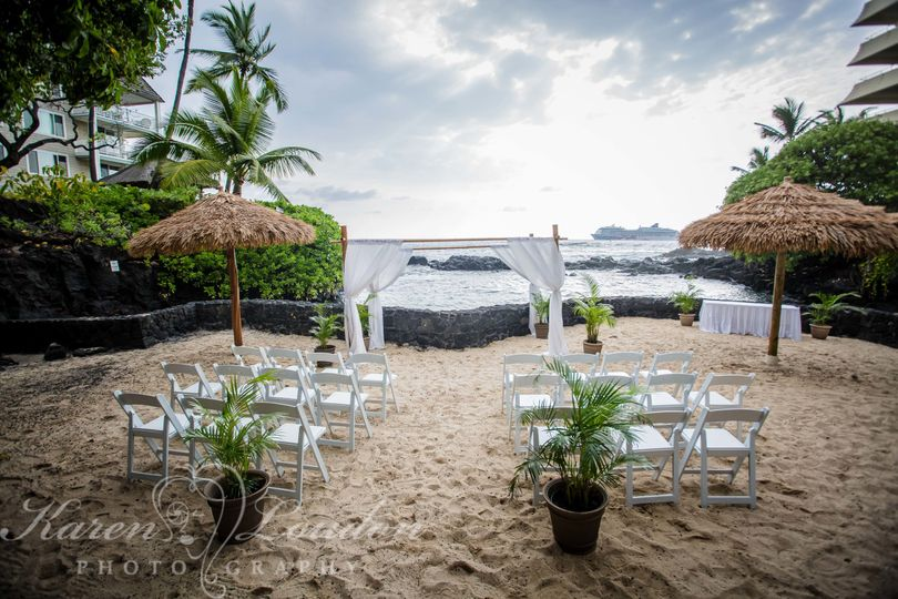 Private Lagoon ceremony location at Royal Kona © Karen Loudon Photography