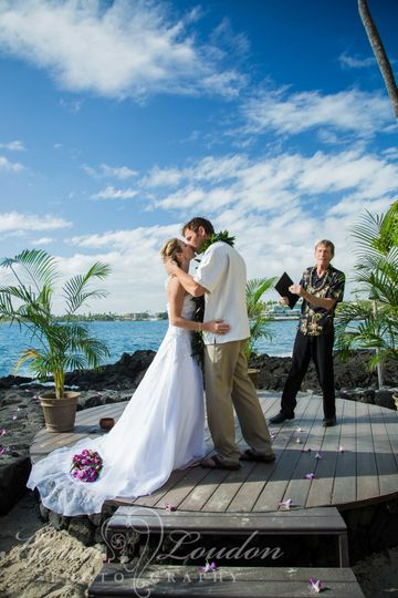 Sunset Cove wedding © Karen Loudon Photography