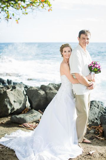 Royal Kona Resort wedding © Karen Loudon